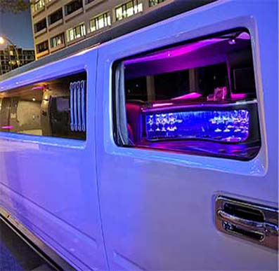 Lush Limousines Perth inside Hummer Limo 16 Seater