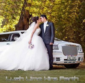 Perth Limo Hire Wedding Car white Chrysler Limousine 10 seater