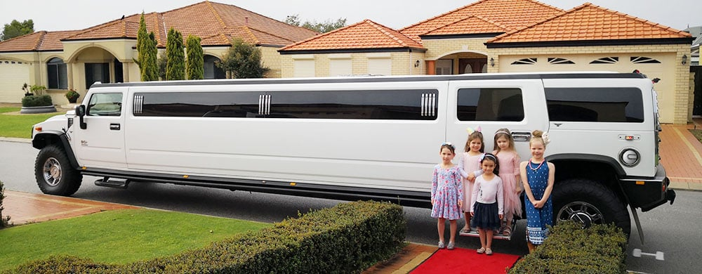 Hummer Limos Perth kids birthday party and red carpet photo